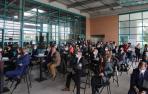 Asistentes al acto de presentación del nuevo DN Management en la rotativa de Diario de Navarra.