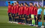 Foto del once inicial de la selección española de fútbol en el partido de la Liga de Naciones ante Suiza.
