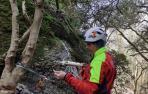Colocan indicadores en tres barrancos de la Comarca de Pamplona para facilitar los rescates