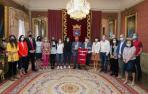 Fotos de la recepción a Osasuna Femenino en el Ayuntamiento de Pamplona