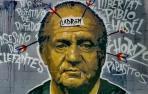Imagen del grafiti borrado en apoyo del rapero Pablo Hasél