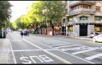 La calle Navas de Tolosa, cortada al tráfico