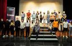 Participantes en la presentación de los proyectos y del espacio 'coworking' de 'Comunal' ayer por la tarde en Falces.