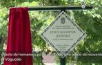 Placa en recuerdo y homenaje a Jesús Alcocer, asesinado por ETA en Mercairuña en 1984