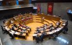 Imagen de un pleno anterior del Parlamento foral.
