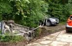 Detenido un conductor en Baztan tras accidentarse con un coche robado.