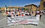"""Cientos de personas claman en Olite por una sanidad rural """"justa"""""""