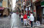 Imagen de la calle Estafeta, este 6 de julio de 2021.