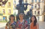 Aurora Vives de Prada, Begoña Martínez Agorreta y Marina Sierra Ramos.