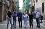 Desde la izquierda Francisco Javier Moral; Alfonso Artazcoz; Paxty Zariquiegui; Paqui Etayo, Amaia García y Francisco Javier Navarro