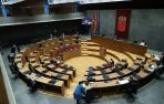 Vista del hemiciclo del Parlamento, minutos antes del inicio de una sesión plenaria