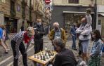 Encierro del ajedrez en los No sanfermines 2021