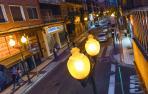 Imagen de una farola en la avenida de Zaragoza de Tudela