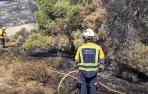 1 Vídeo de la zona afectada por el incendio en el Vedado de Eguaras