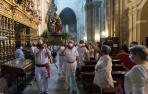 Misa en honor a Santa Ana en Tudela
