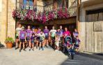Pese a que por segundo año la Carrera Solidaria fue virtual, un grupo de corredores se reunió en Ziordia.