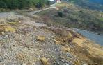 Ladera sobre la carretera NA-5310 que se estabilizará en Ujué