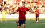 Alejandro Francés celebra el primer gol