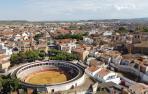 Una vista aérea del casco urbano de la localidad ribera de Cintruénigo