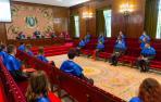 Un momento de acto de clausura de la XII edición del máster en Investigación Biomédica de la Facultad de Ciencias de la Universidad de Navarra