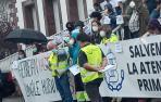 Imagen de la concentración de ayer por la tarde en Elizondo.