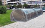 Imagen de los nuevos aparcabicis que se instalarán en distintos puntos de Pamplona