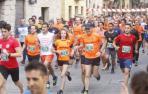 Salida de la primera edición de la renovada 'Carrera de la Ruta del Vino de Navarra', celebrada en 2019 en Olite