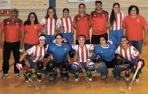 El equipo femenino de hockey patines de la UDC Rochapea que jugará esta temporada en la categoría OK Plata