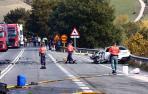 Imagen del accidente de tráfico de Burutáin (Anué)