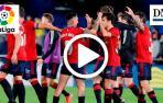 Los jugadores de Osasuna celebran el triunfo en Villarreal