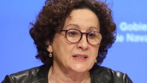 La consejera de Derechos Sociales, María Carmen Maeztu, en la rueda de prensa