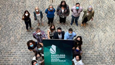 Participantes en la presentación de ideas de negocio de Pamplona Emprende