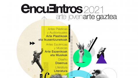 Cartel de los Encuentros de Arte Joven.