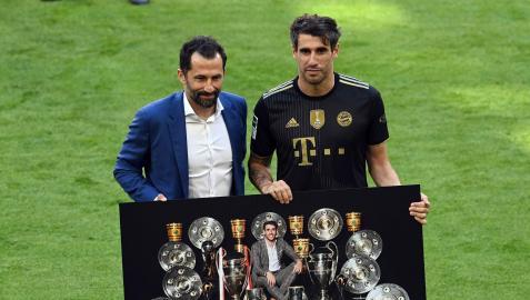 Javi Martínez el día de su despedida con el Bayern