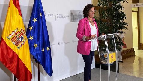 La consejera Itziar Gómez, en su comparecencia tras la reunión