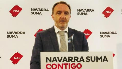 Javier Esparza, presidente de UPN y portavoz de NA+, en una imagen de archivo