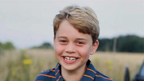 Imagen difundida desde la Casa Real con motivo del 8 cumpleaños del príncipe George.