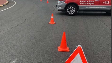 Un control de la Policía Foral