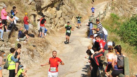 El corredor Aritz Urdín del Río en el final del Pilón