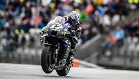 El piloto español Maverick Viñales durante el Gran Premio de Estiria de MotoGP
