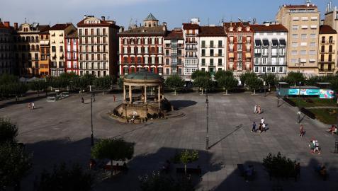 Plaza del Castillo de Pamplona.