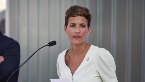 La presidenta María Chivite