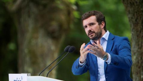 Pablo Casado, durante su intervención en el inicio del curso político del Partido Popula