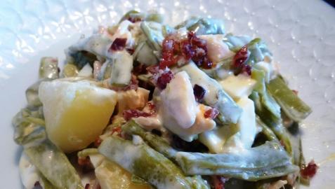 Ensaladilla de alubias verdes con jamón