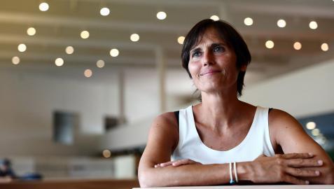 Rosa García Loire, ayer, en el Baluarte de Pamplona, donde tiene lugar esta semana la quinta edición de Conecta Fiction
