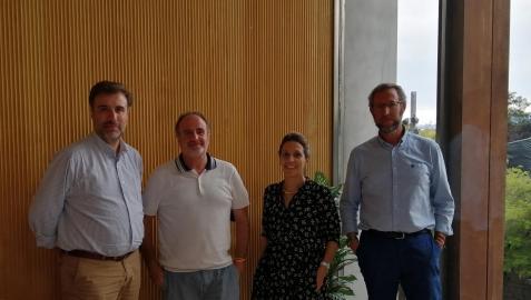 Integrantes del comité de selección de guiones del IX Certamen de cortometrajes Navarra, Tierra de Cine