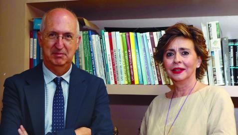 Miguel Ángel Riezu e Inés Artajo