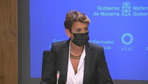 María Chivite, durante su comparecencia