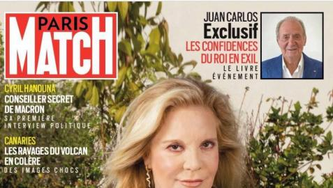 Portada de 'Paris Match', con la exclusiva del rey emérito