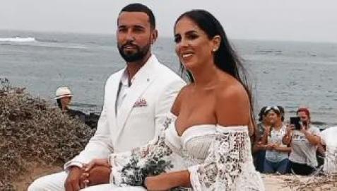 Un momento de la boda de Anabel Pantoja y Omar Sánchez